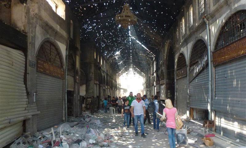 السوق المسقوف في مدينة حمص_(انترنت)