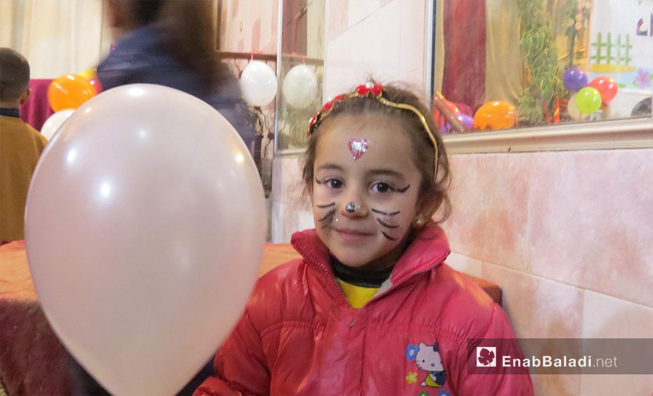 حفل أيتام دار قطر الندى في إدلب - 27 كانون الثاني 2017 (عنب بلدي)