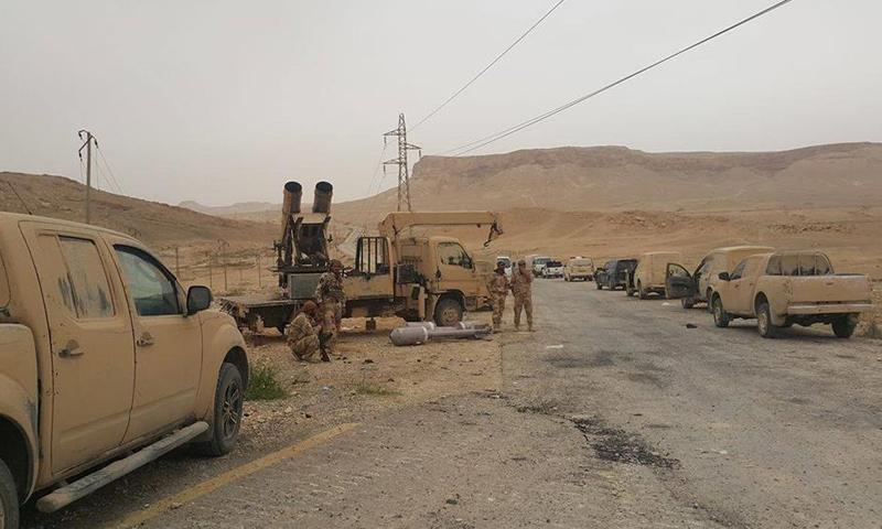 مقاتلين من تنظيم الدولة الإسلامية بريف حمص الشرقي_(أعماق)