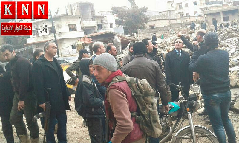 زيارة والي كلس لمدينة اعزاز شمال حلب - 9 كانون الثاني 2017 (وكالة الكوثر الإخبارية)