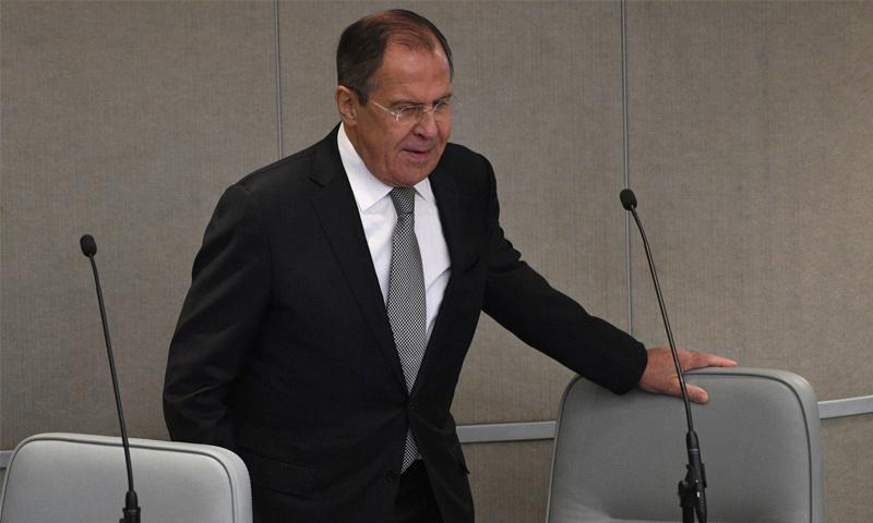 وزير الخارجية الروسي سيرغي لافروف_(AFP)