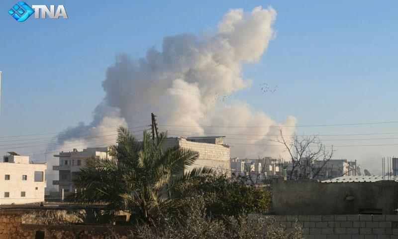 استهداف أطراف بلدة النيرب بغارة جوية تسببت بسقوط ضحايا- الأحد 22 كانون الثاني (ثقة)