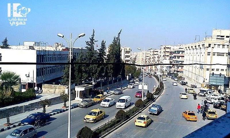أرشيفية- شارع مديرية المالية في مدينة حماة (عدسة شاب حموي)