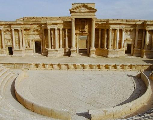 المسرح الروماني في تدمر (إنترنت )