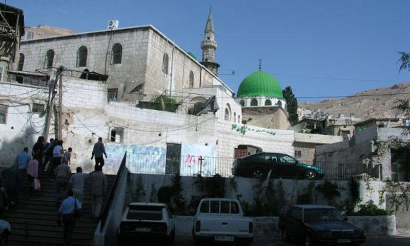 """مسجد """"الشيخ محي الدين"""" وسط العاصمة دمشق"""