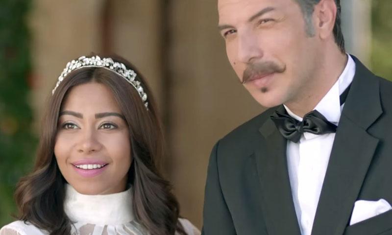 """المطربة المصرية شيرين والممثل السوري باسل خياط في مسلسل """"طريقي"""" - (انترنت)"""
