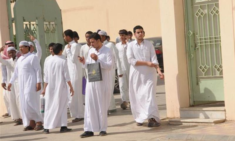 تعبيرية: طلاب في إحدى المدارس السعودية (صحف سعودية)