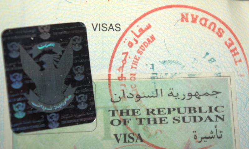 تعبيرية: تأشيرة دخول إلى السودان (إنترنت)