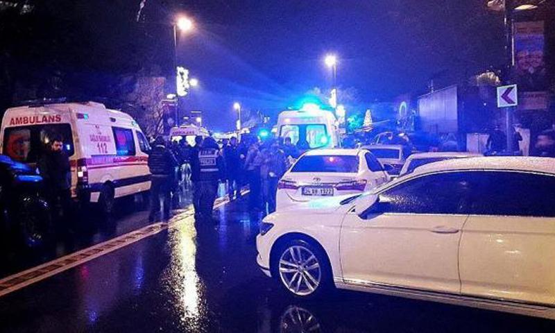 من مكان تنفيذ الهجوم في اسطنبول_(TRT)