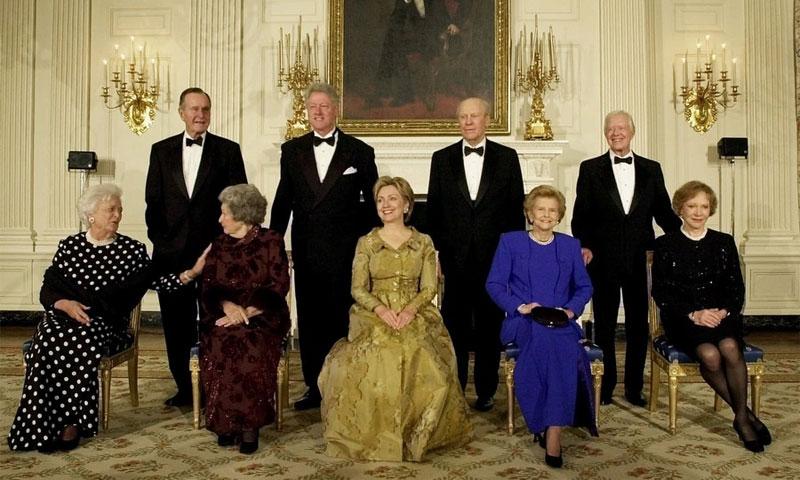 سيدات البيت الأبيض مع أزواجهن - (انترنت)