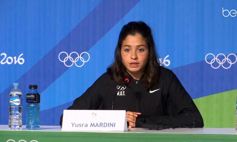 السباحة السورية يسرى مارديني في مسابقة ريو 2016 الأولمبية - (انترنت)