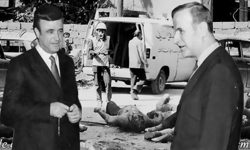 نفذ حافظ الأسد وشقيقه رفعت مجزرة حماة- 2 شباط 1982 (تعديل عنب بلدي)