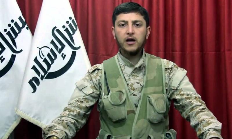 """حمزة بيرقدار- المتحدث باسم أركان """"جيش الإسلام"""" (تويتر)"""