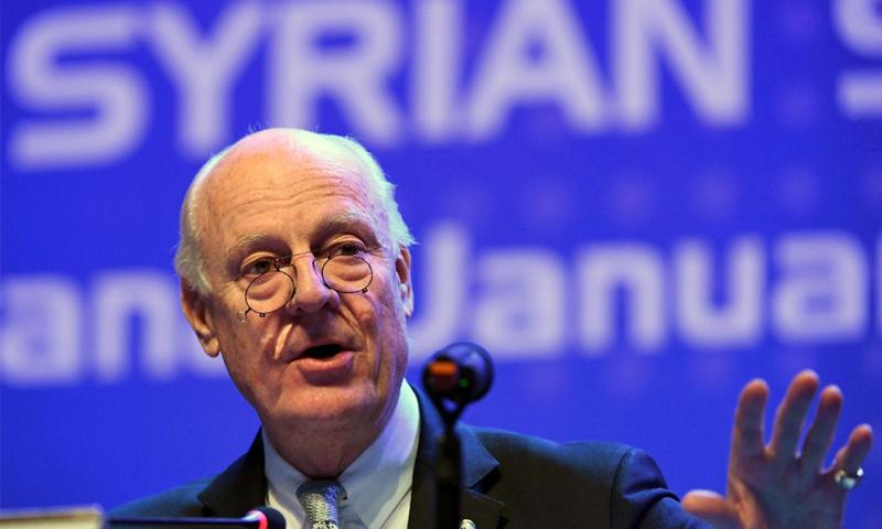 المبعوث الأممي إلى سوريا ستيفان دي ميستورا_(AFP)