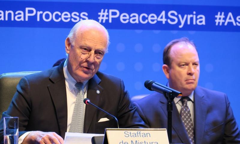 المبعوث الخاص إلى سوريا ستيفان دي ميستورا_(AFP)