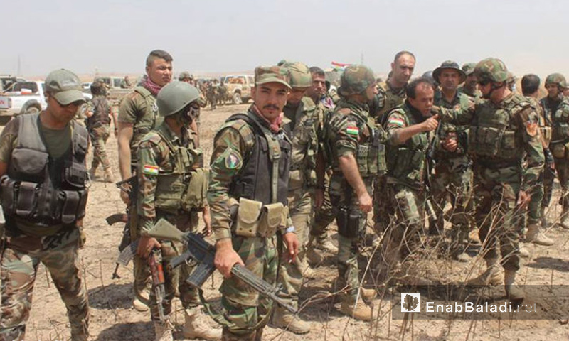 """مقاتلون من """"بيشمركة روج آفا"""" في كردستان العراق – أيار 2016 (أرشيف عنب بلدي)"""