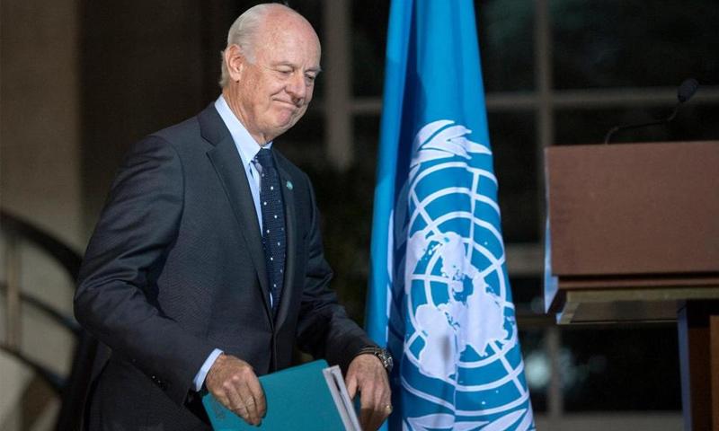 المبعوث الأممي إلى سوريا، ستيفان دي ميستورا (إنترنت)