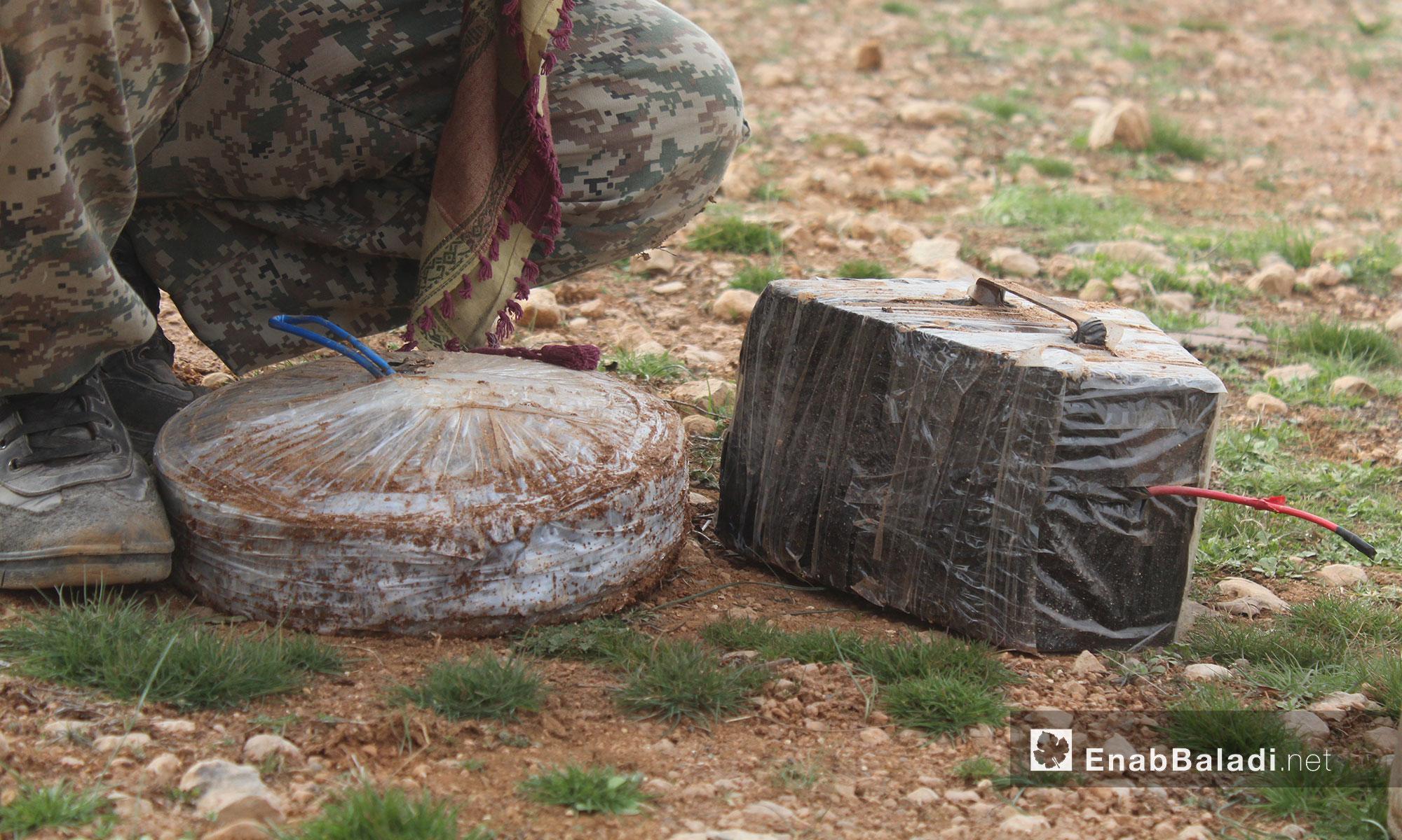 """الألغام التي زرعها مقاتلو """"تنظيم الدولة"""" في محيط الباب - 12 شباط 2017 (عنب بلدي)"""