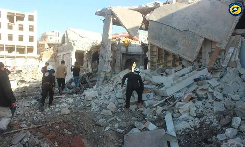 القصف على أريحا في ريف إدلب - 25 شباط 2017 (الدفاع المدني في إدلب)