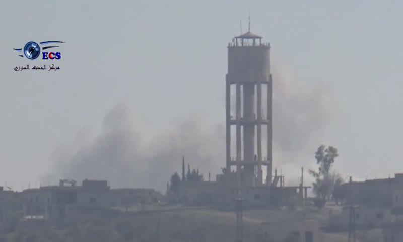 غارات جوية على مدينة اللطامنة في ريف حماة- الجمعة 24 شباط (يوتيوب)