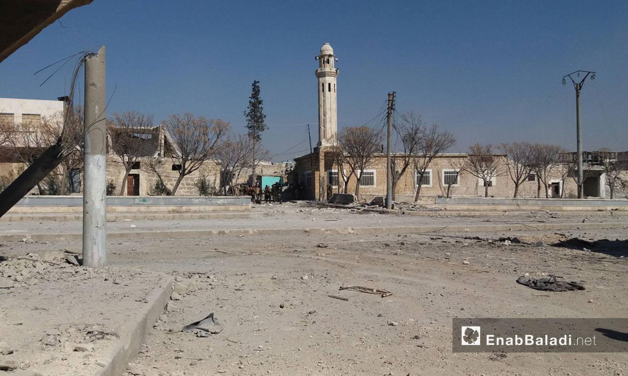 """جانب من مدينة الباب بعد طرد تنظيم """"الدولة"""" منها- 23 شباط 2017 (عنب بلدي)"""