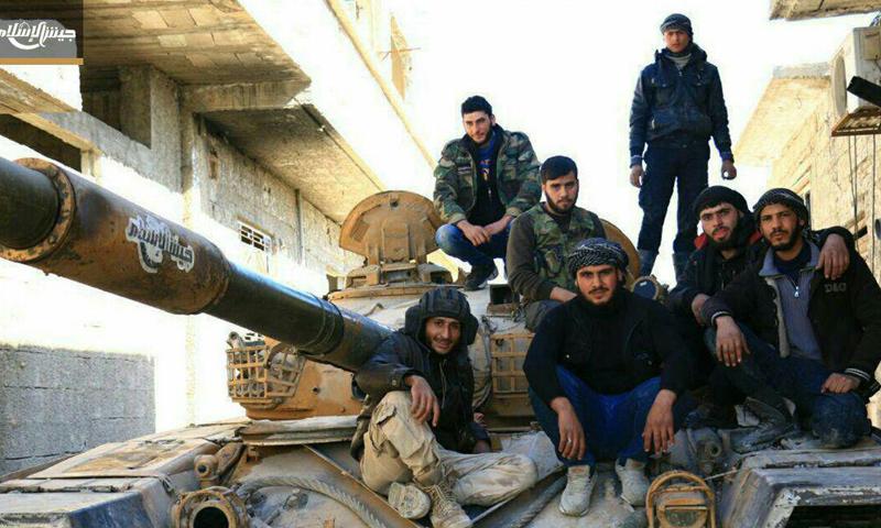 """عناصر من """"جيش الإسلام"""" في الغوطة الشرقية- الثلاثاء 7 شباط (تلغرام)"""