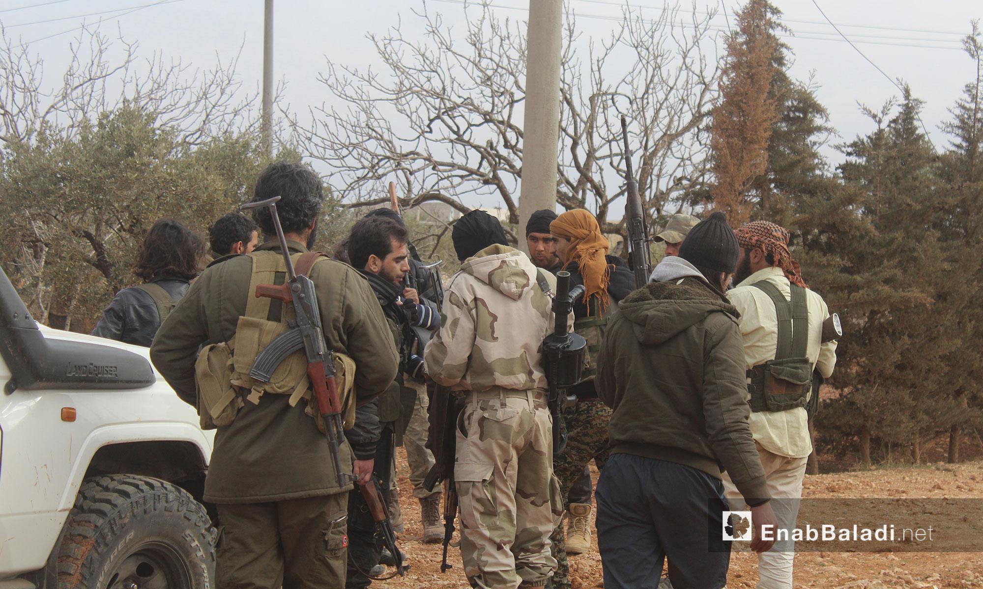 مقاتلو الجيش الحر في محيط مدينة الباب - 12 شباط 2017 (عنب بلدي)