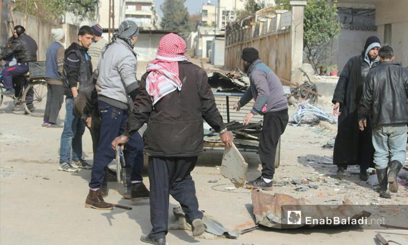 آثار القصف على حي الوعر في حمص - 9 شباط 2017 (عنب بلدي)