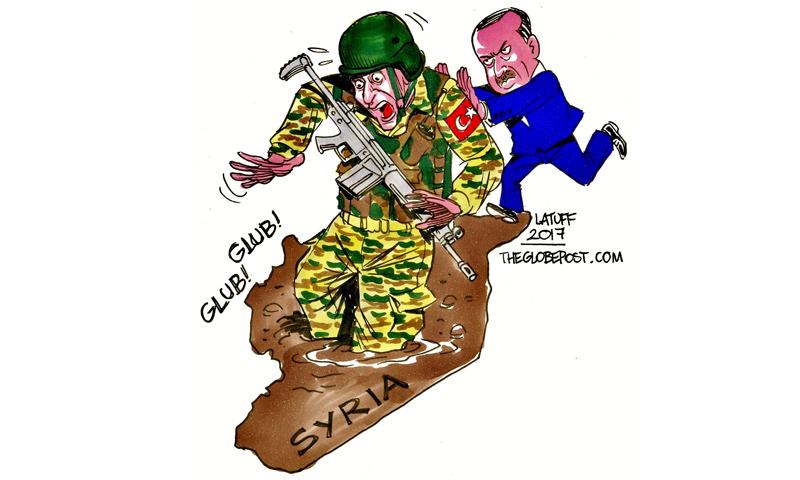 كاريكاتير للرسام كارلوس لطوف (تويتر)
