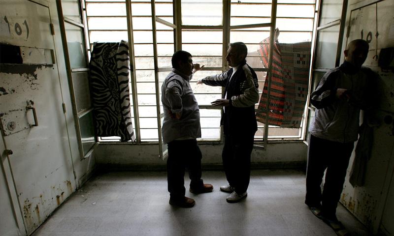 سجناء في سجن رومية ببيروت عام 2006 (AFP)