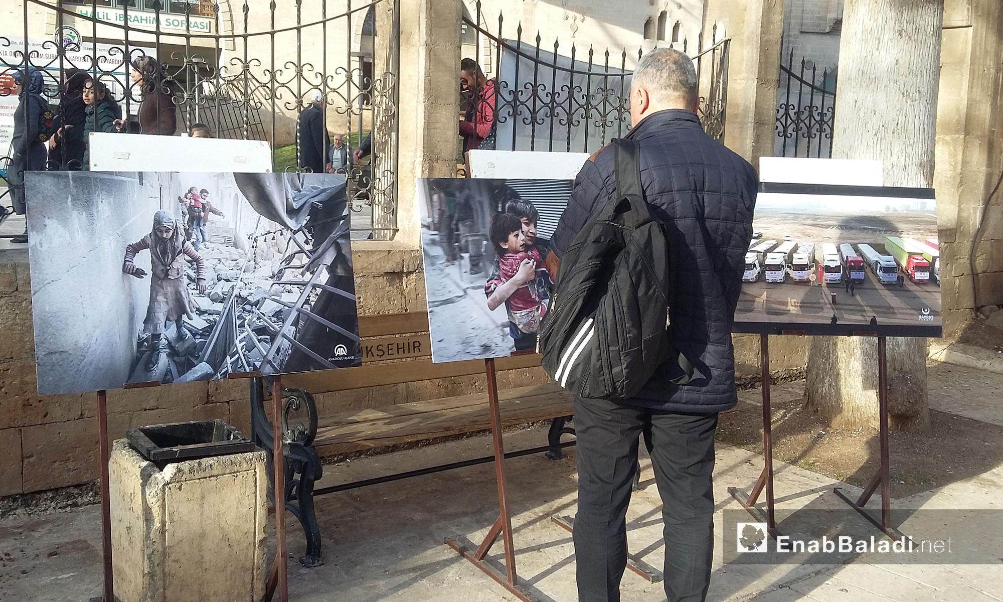 المعرض يحوي رسوم تروي أجزاء من المعاناة السورية