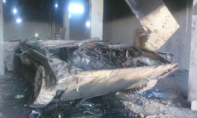 """عربة BMB أحرقها """"لواء الأقصى"""" قبيل خروجه من ريف إدلب إلى مناطق """"داعش"""" شرق سوريا- الأربعاء 22 شباط (تيلغرام)"""