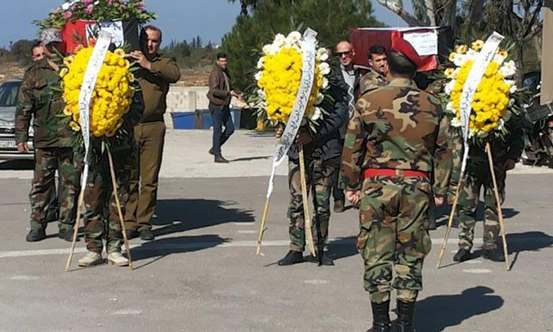 تشييع قتلى لقوات الأسد في طرطوس- الثلاثاء 7 شباط (فيس بوك)