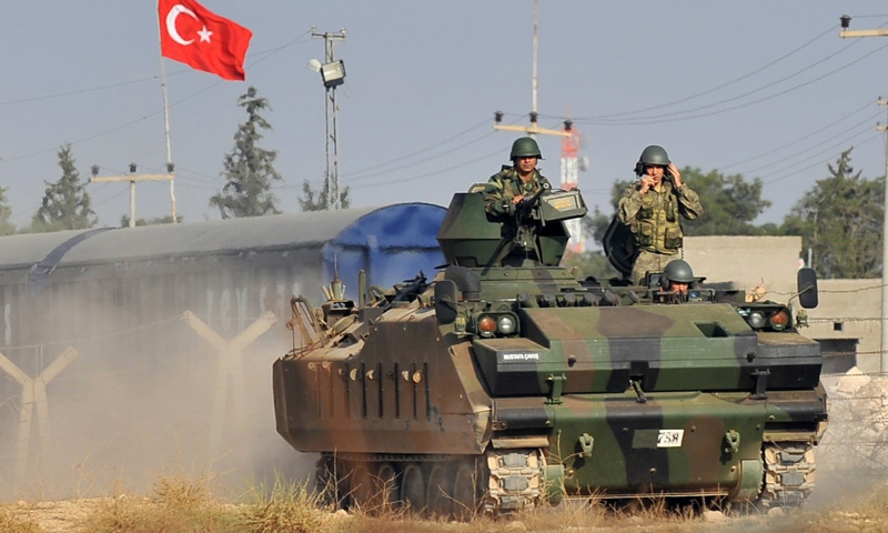 أرشيفية- عربة عسكرية تركية شمال شرق سوريا (وكالات)