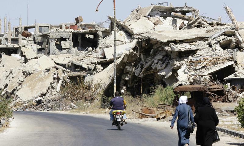 داخل مدينة حمص_19 أيلول 2016_(AFP)