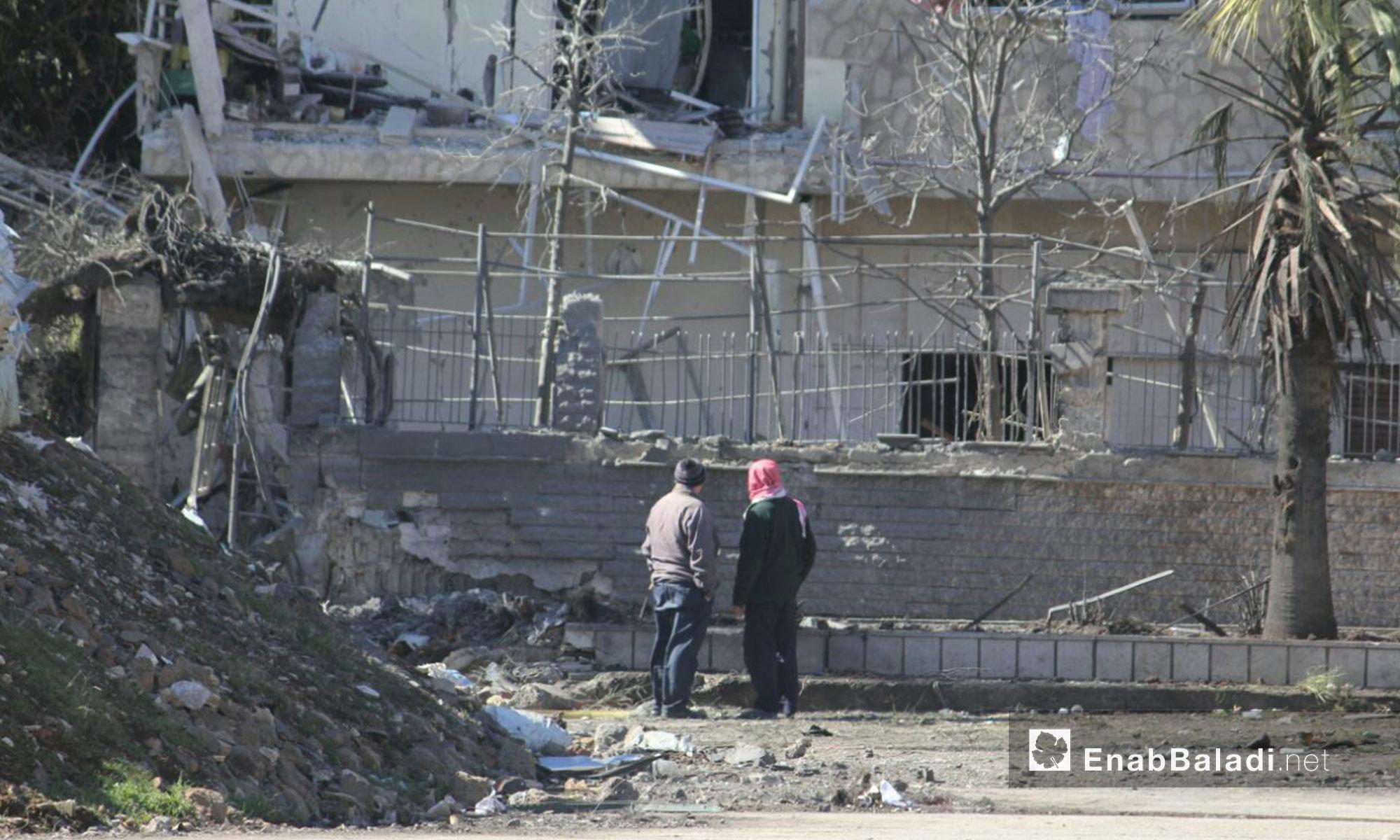 آثار قصف الطيران الحربي علي حي الوعر في حمص - 18 شباط 2017 (عنب بلدي)