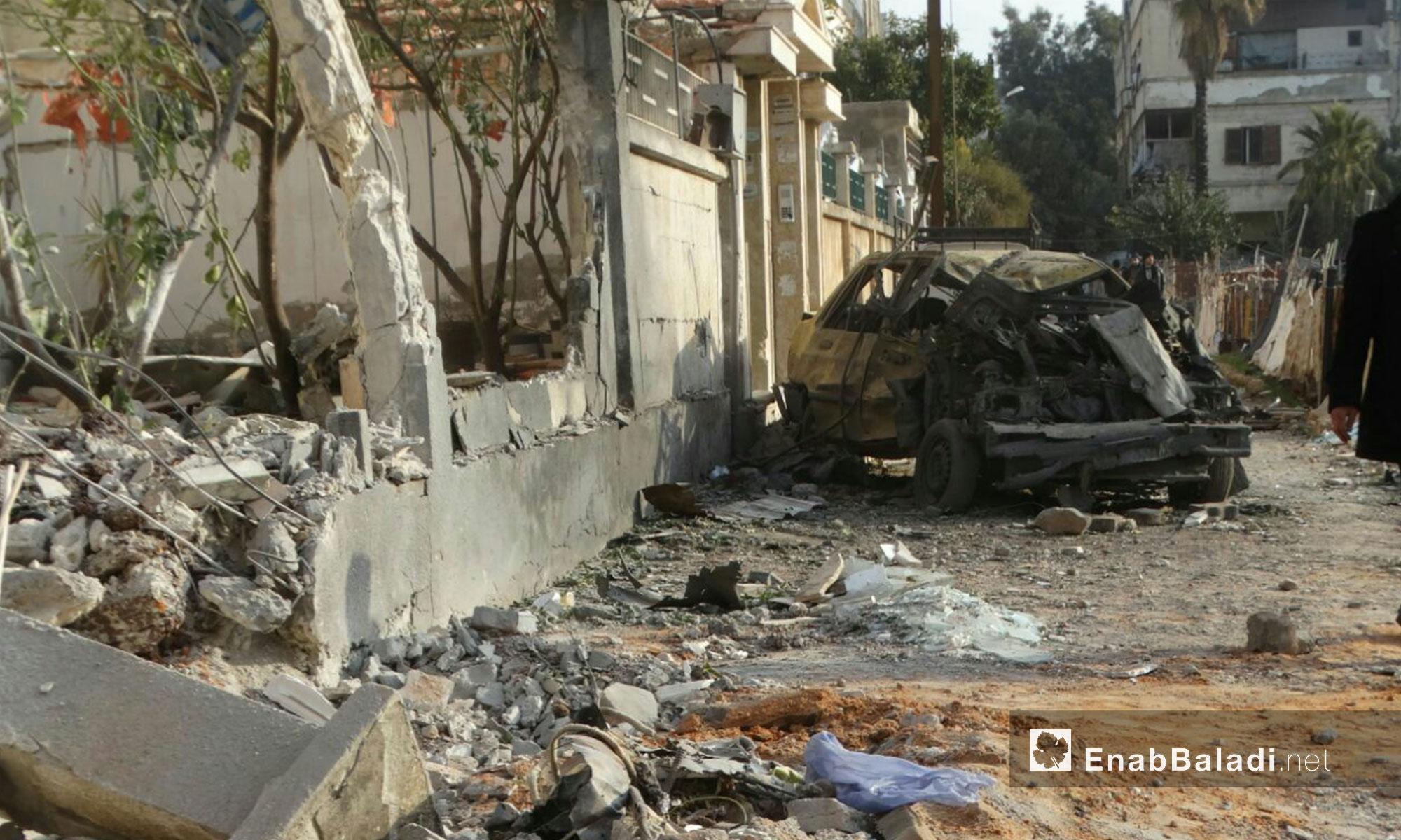 بعض مشاهد الدمار الذي خلفه القصف على حي الوعر في حمص - 9 شباط 2017 (عنب بلدي)