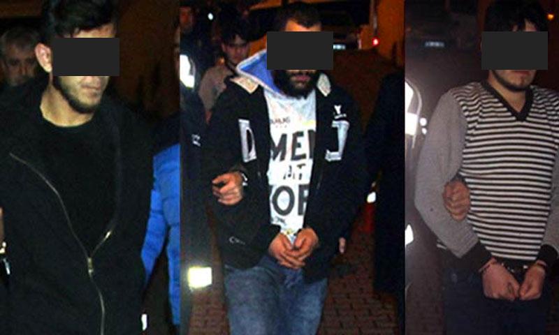 ثلاثة شباب سوريون اعتقلوا أمس الثلاثاء، 14 شباط، لقتلهم مواطني تركي (مللييت)