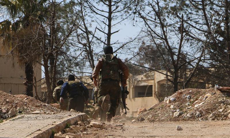 """مقاتلون في هيئة """"تحرير الشام"""" غرب حلب (تحرير الشام)"""