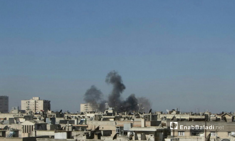 غارات الطيران الحربي علي حي الوعر في حمص - 18 شباط 2017 (عنب بلدي)