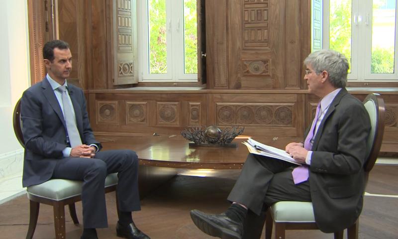 """من لقاء الأسد مع شبكو """"ياهو نيوز"""" - 9 شباط 2017 ( Yahoo News)"""