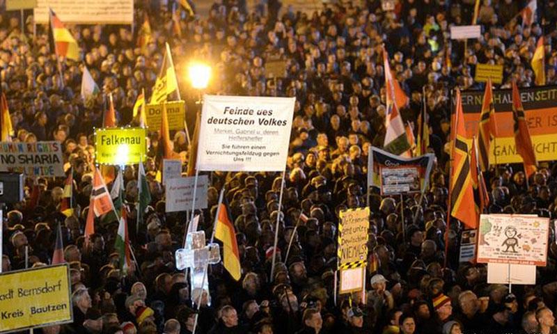 """مسيرة لحركة """"بيديغا"""" المعادية للأجانب والمسلمين في ألمانيا - (انترنت)"""