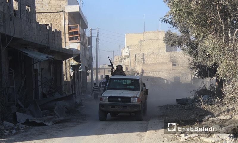 """""""الجيش الحر"""" داخل مدينة الباب في ريف حلب الشرقي- الخميس 23 شباط (عنب بلدي)"""
