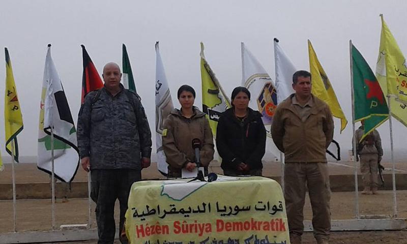"""بيان صحفي للمتحدث باسم """"قوات سوريا الديمقراطية""""- الأحد 12 شباط (فيس بوك)"""