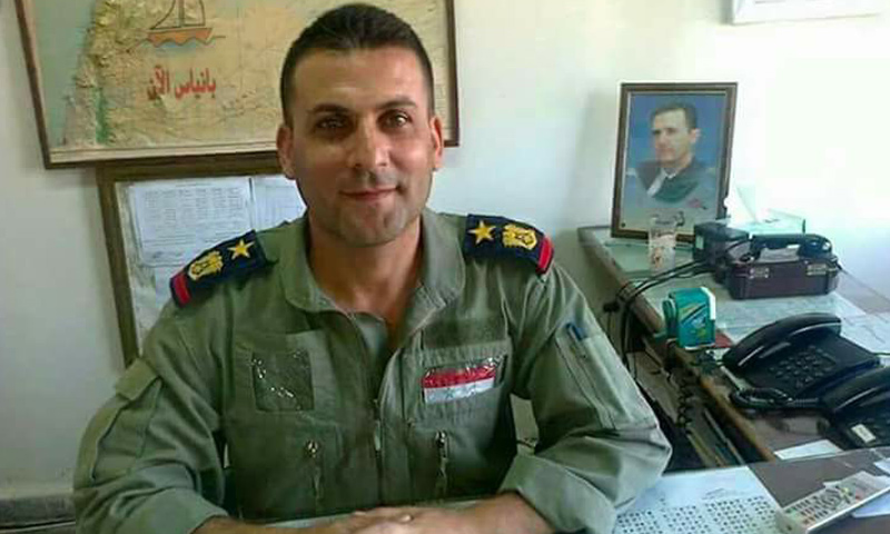 العقيد الركن إياد غانم ضابط أمن مطار كويرس العسكري (فيس بوك)