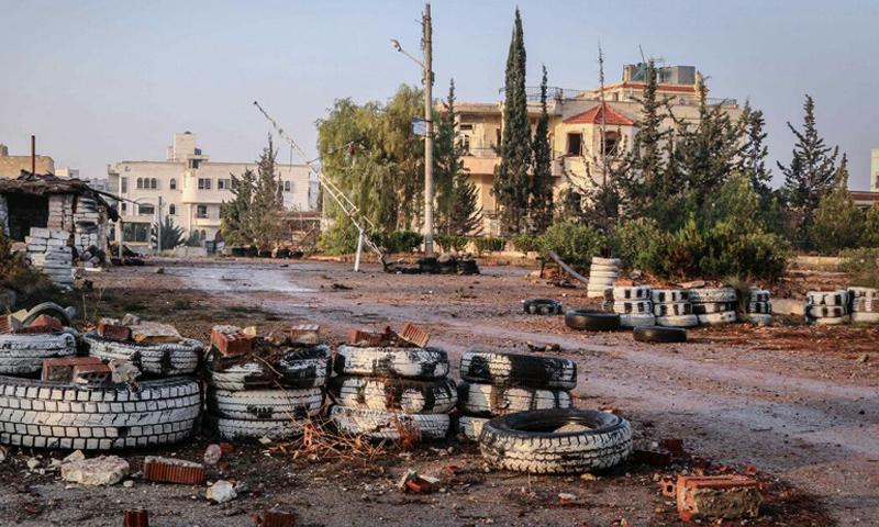 """أرشيفية- ضاحية """"الأسد"""" في ضواحي حلب الجنوبية (جيش الفتح)"""