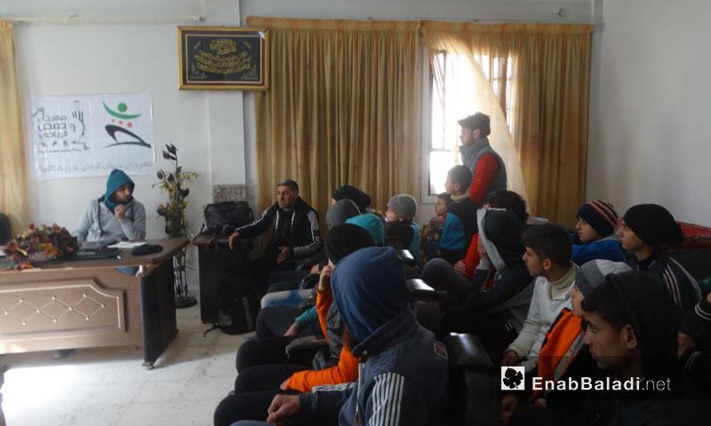 من انتخابات أعضاء اللجنة التنفيذية في حي الوعر - 3 شباك 2017 (عنب بلدي)