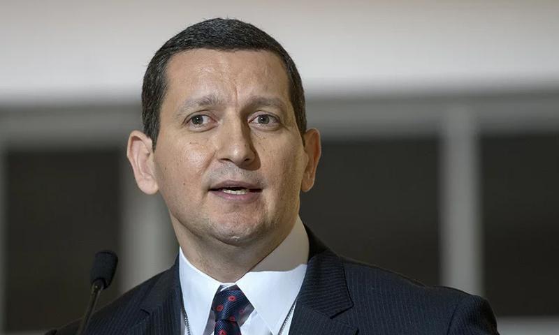 عضو وفد منصة القاهرة المحسوبة على المعارضة السورية جهاد مقدسي - (AP)