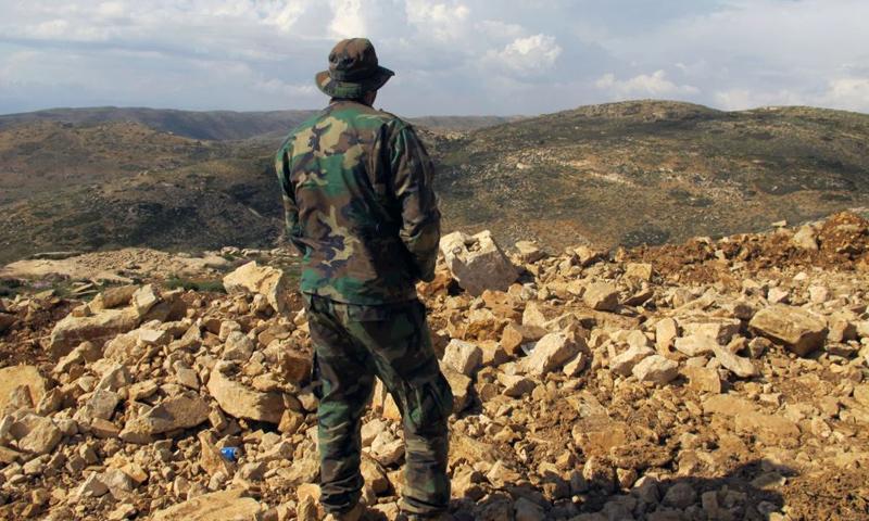 مقاتل من حزب الله اللبناني في منطقة القلمون_كانون الثاني 2017_(AFP)