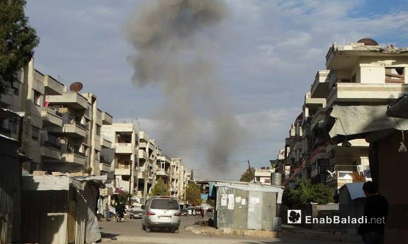 تعبيرية: القصف على حي الوعر في حمص - تشرين الثاني 2016 (أرشيف عنب بلدي)